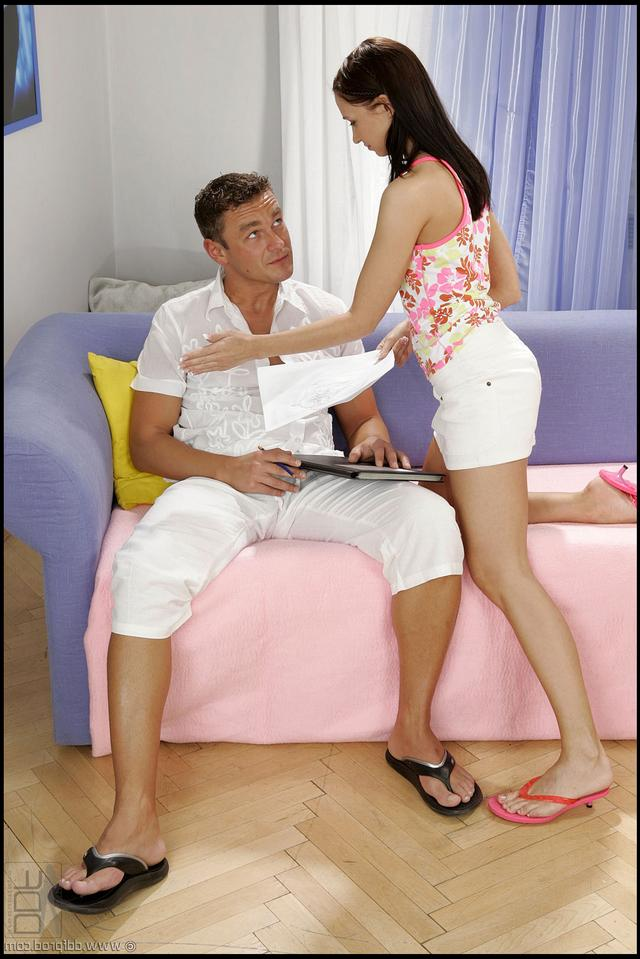 Guy fucked pampered student in all holes 3 photo