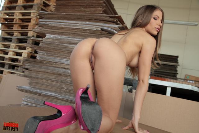 Student in high heels dreams of a hard cock in the ass 10 photo
