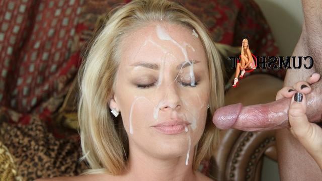 Men splattered girl's faces in white sperm 11 photo