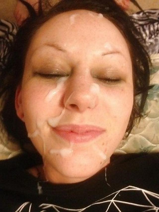 Men splattered girl's faces in white sperm 25 photo