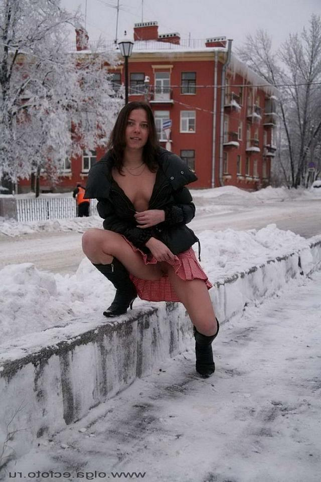 Snow Princess shows that under skirt 6 photo