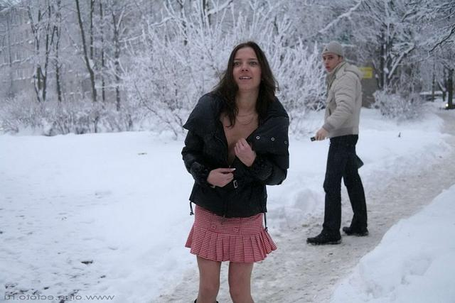 Snow Princess shows that under skirt 19 photo