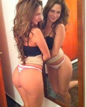 Girls with chubby asses posing backward