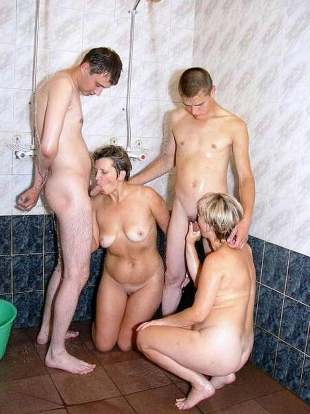 Mature women and grandmothers having fun with young guys 7 photo