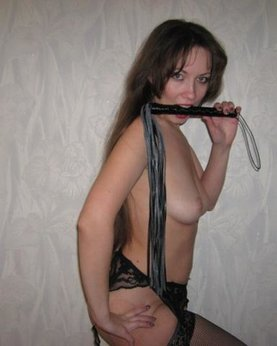Kate prefers wild hard sex with a whip and dildo