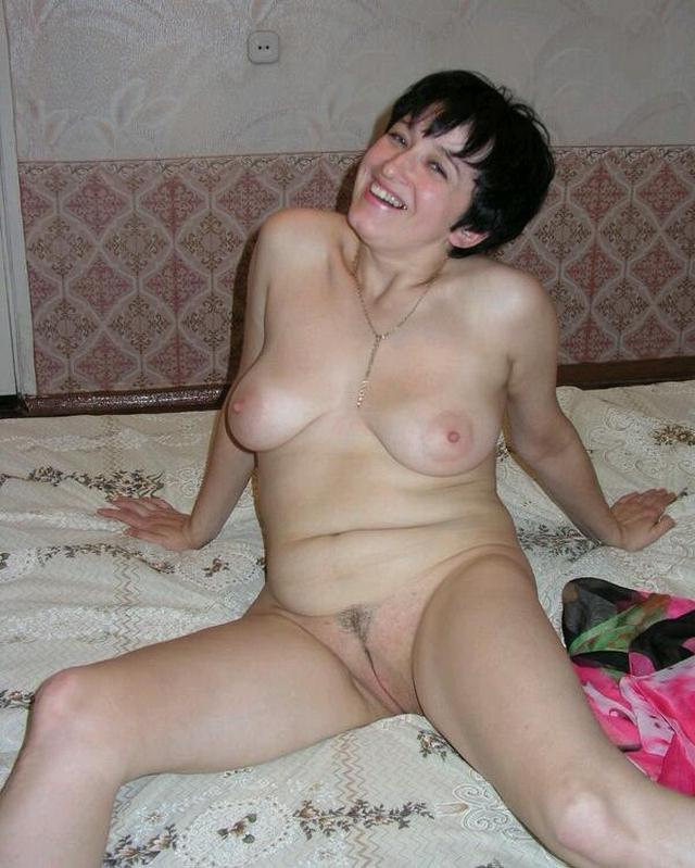 Housewife showed that she had beneath light dressing gown 18 photo