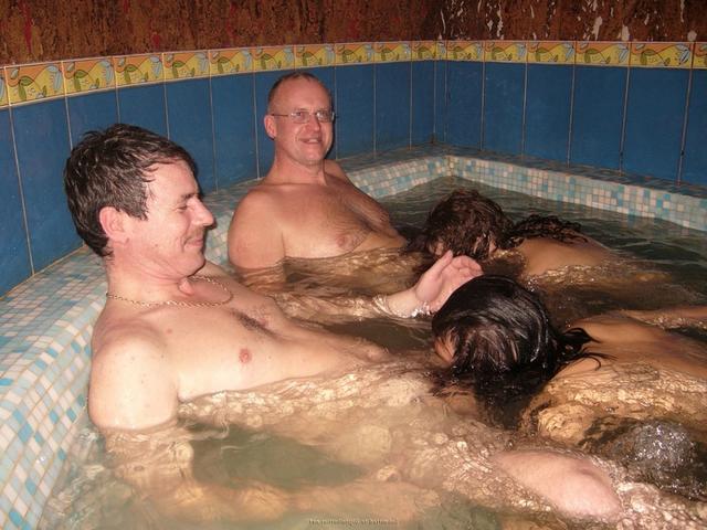 Prostitutes in the sauna pleasuring adult men 1 photo