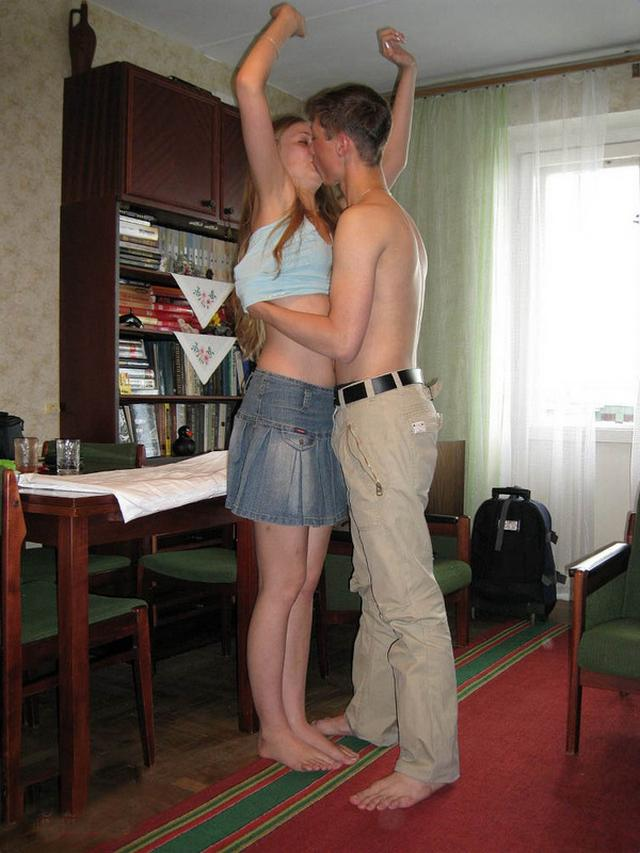 Fellow students have sex at home 2 photo