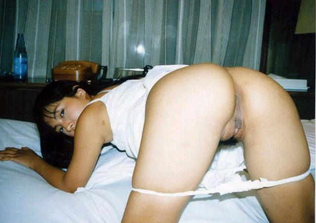 Beauties are showing their excited pussies - rear view 38 photo