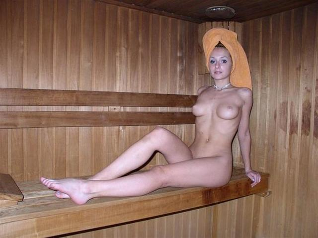 Group of young nude girls in a sauna 7 photo