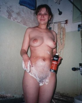 Charming milfs bathe naked in the bathroom