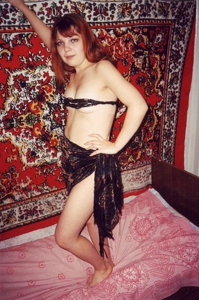 Russian babes in stockings on retro sex photos 9 photo