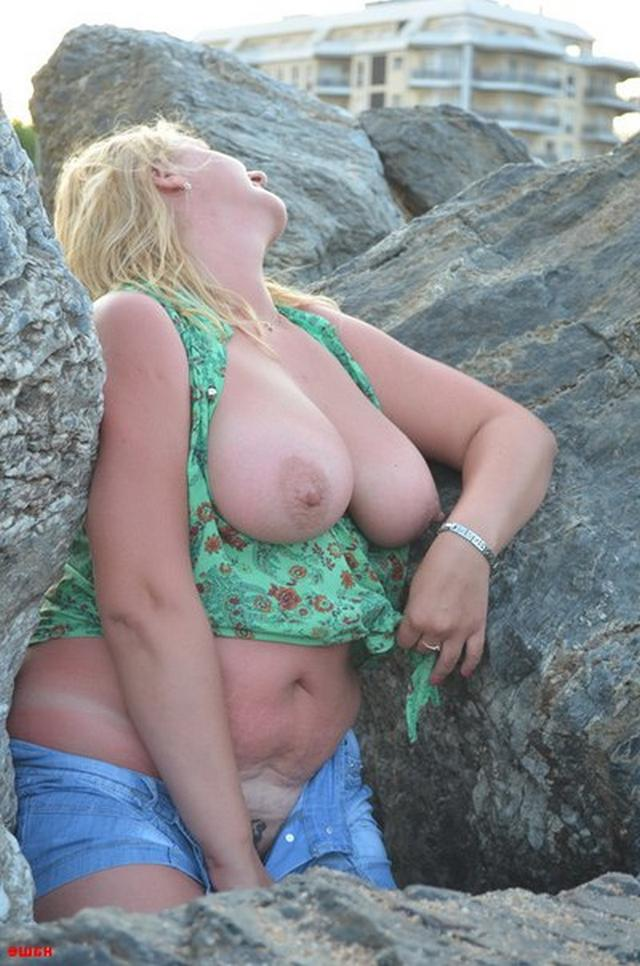 Sweet plump woman with great tits decided find a beau on the beach 3 photo