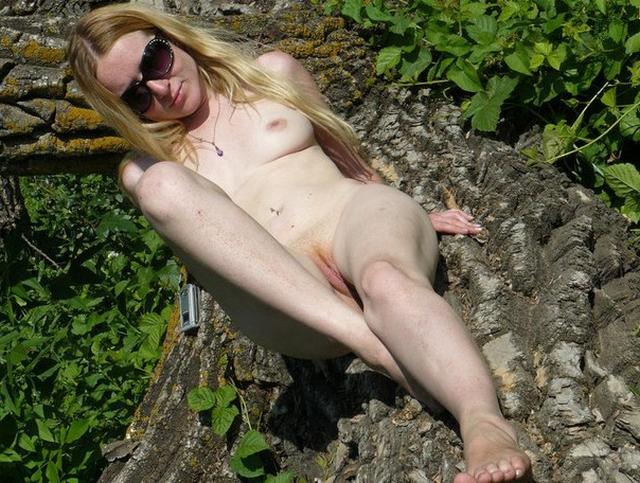 Shameless bitches show their pussies outdoors 12 photo