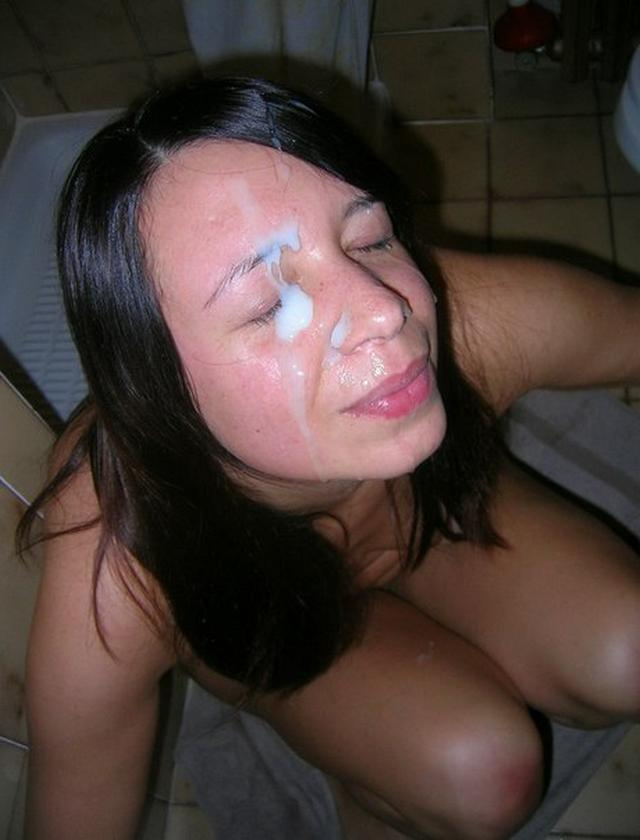 Bitch loves when profusely cum on her face 1 photo