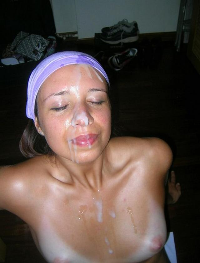 Bitch loves when profusely cum on her face 3 photo