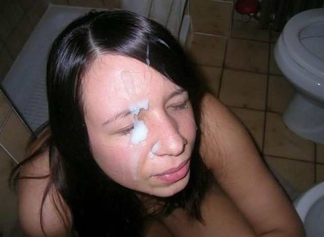 Bitch loves when profusely cum on her face 5 photo