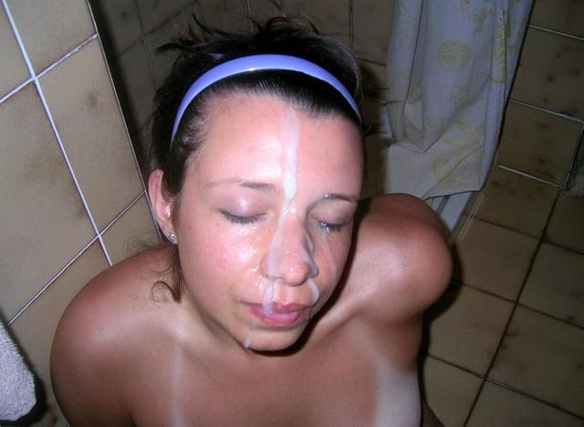 Bitch loves when profusely cum on her face 13 photo