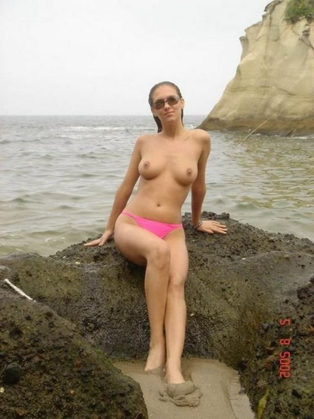 Sexy and shapely girls have fun at the beach 13 photo