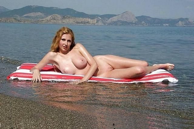 Sexy and shapely girls have fun at the beach 21 photo