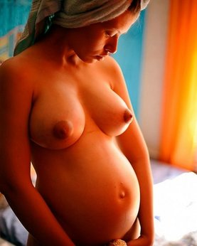 Pregnant girls excited and undressed for husbands