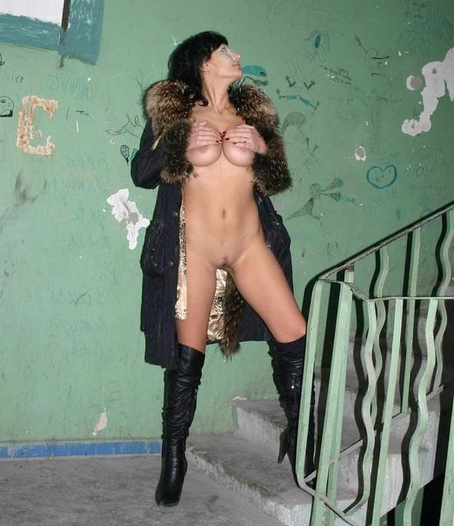 Long-legged whores posing in stairwell 6 photo