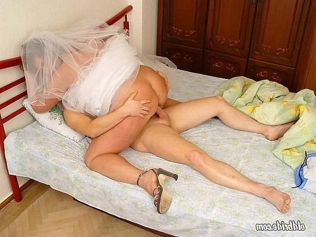 Anxious bride spreads legs and stick out their asses 9 photo