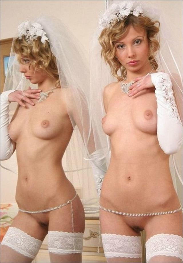 Anxious bride spreads legs and stick out their asses 7 photo