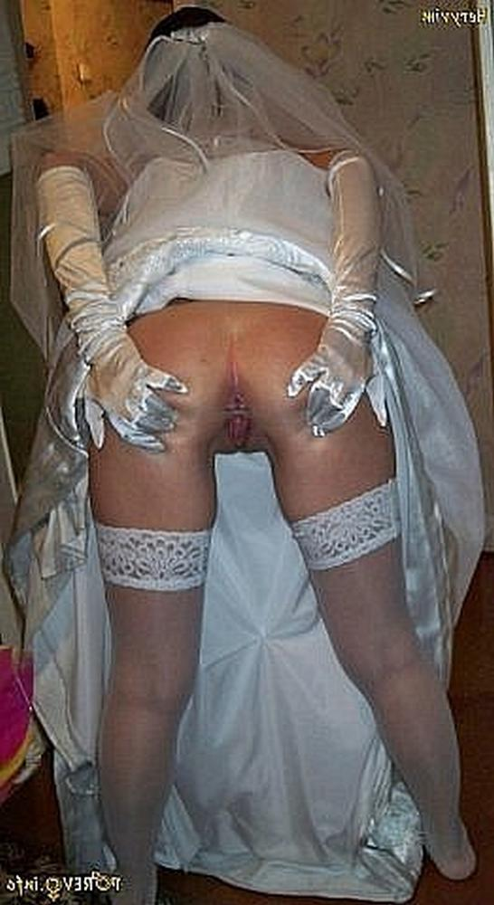 Anxious bride spreads legs and stick out their asses 14 photo