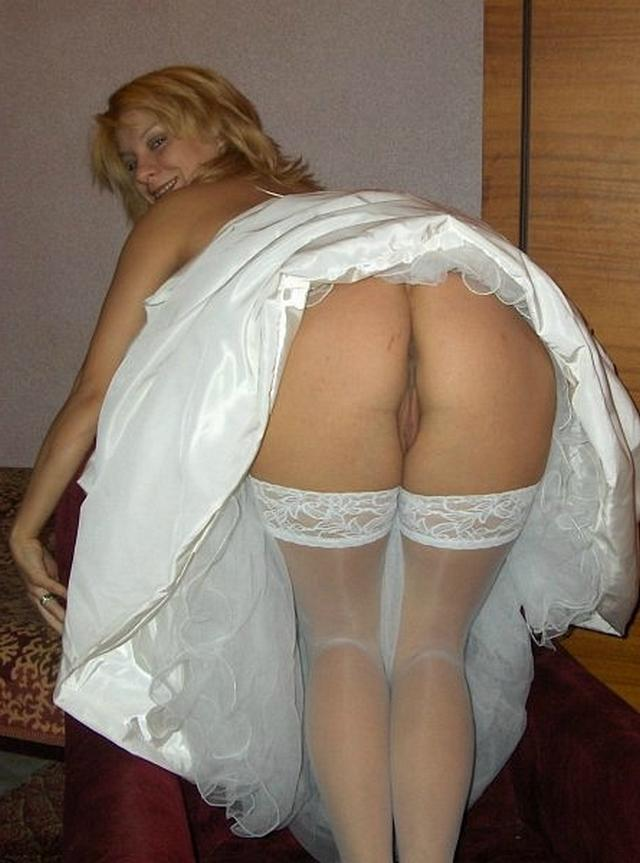 Anxious bride spreads legs and stick out their asses 19 photo