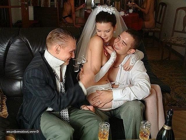 Anxious bride spreads legs and stick out their asses 6 photo