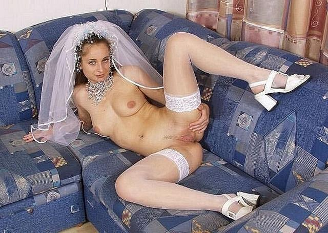 Anxious bride spreads legs and stick out their asses 8 photo