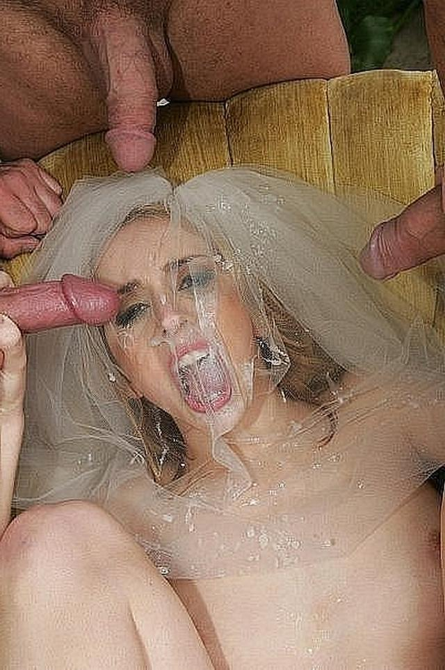 Anxious bride spreads legs and stick out their asses 18 photo