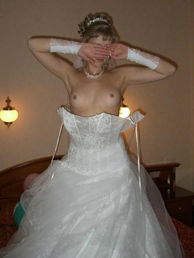 Anxious bride spreads legs and stick out their asses 28 photo