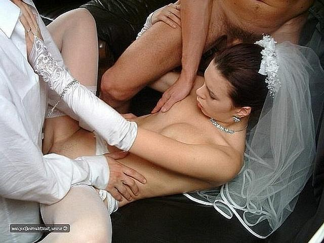 Anxious bride spreads legs and stick out their asses 27 photo