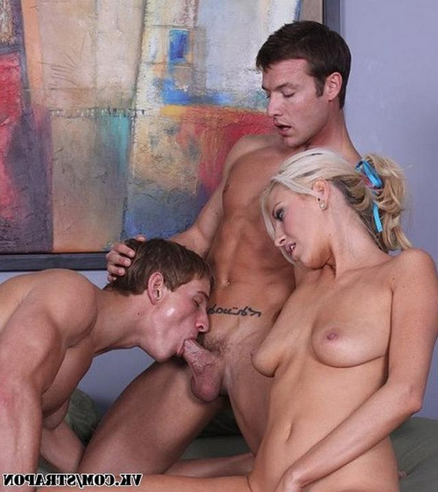 Hot crazy threesome with comely bisexual 12 photo