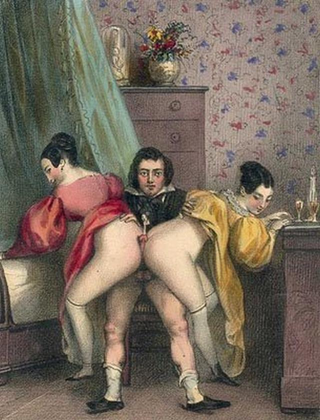 Retro pictures of pornographic nature with a perverse postures 7 photo