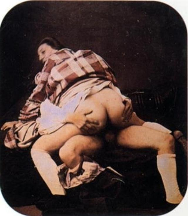 Retro pictures of pornographic nature with a perverse postures 5 photo