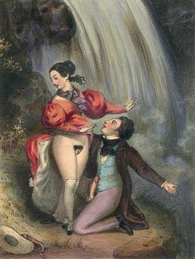 Retro pictures of pornographic nature with a perverse postures 4 photo