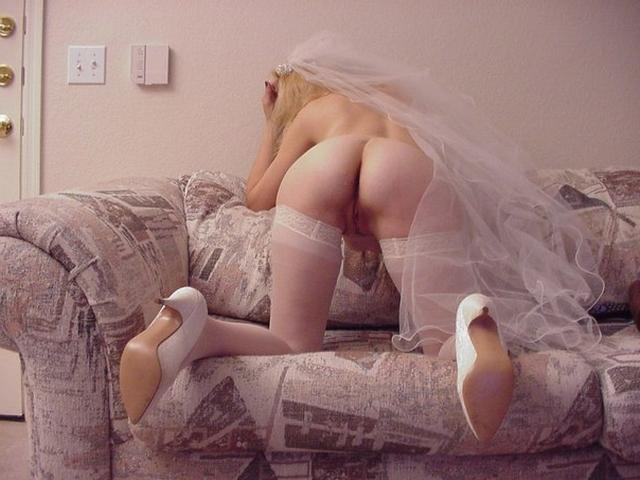 Cute bride in a wedding dress without panties 2 photo