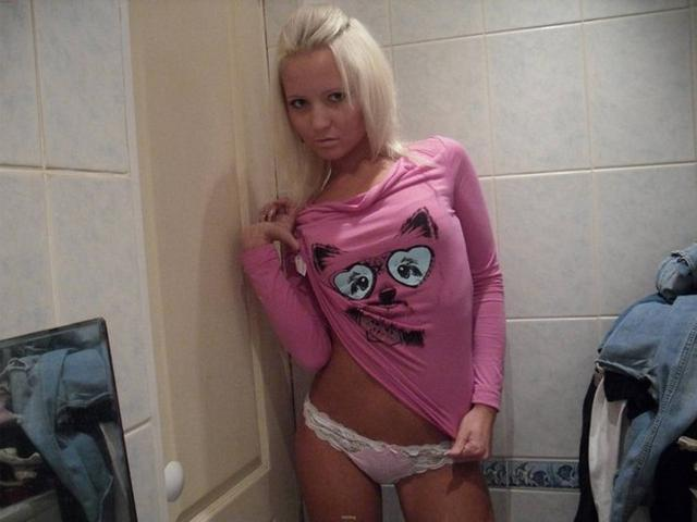 Intimate photos of attractive teen blonde with small breasts 10 photo