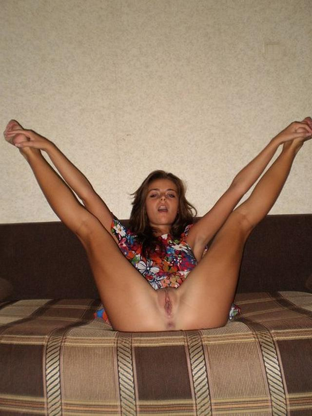 Candid photo of charming babe with beautiful legs 6 photo