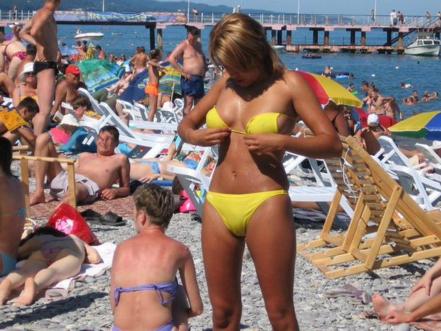 Beauties demonstrated their seductive bikini on the beach 1 photo