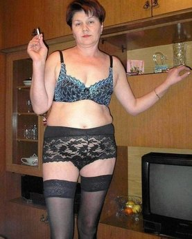 Drunk Grandma tried on sexy lingerie