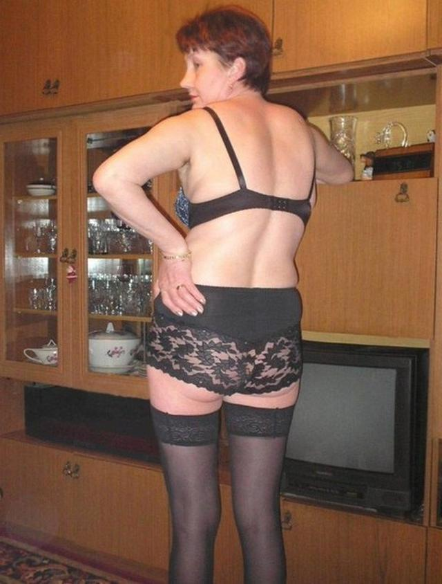Drunk Grandma tried on sexy lingerie 4 photo