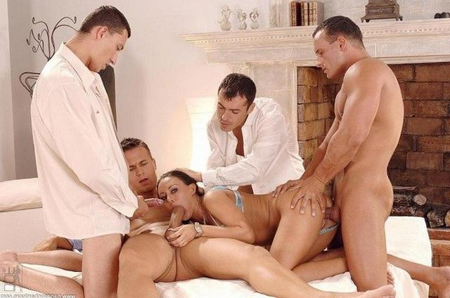 Passionate orgy with lots of cocks and sperm 2 photo