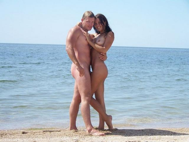 Nudist couple posing naked before the wedding 7 photo