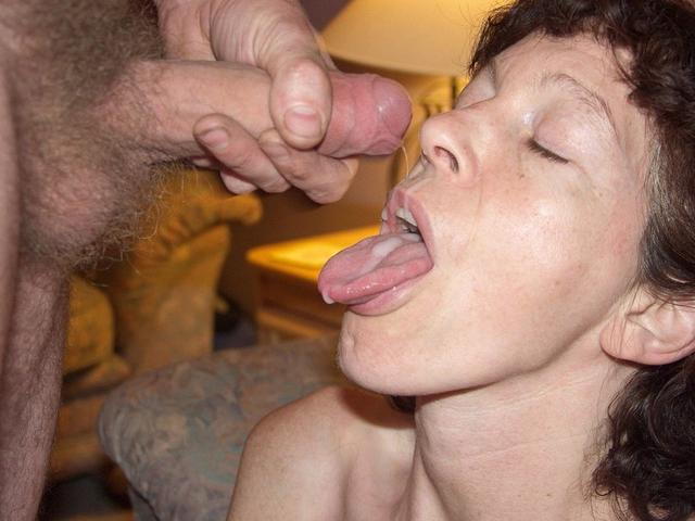 Dense sperm splatter on cute face 8 photo