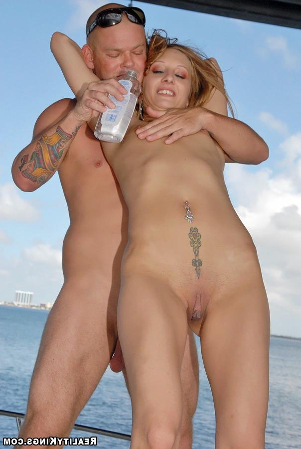 Bald guy fucked sporty girl on the high seas 15 photo