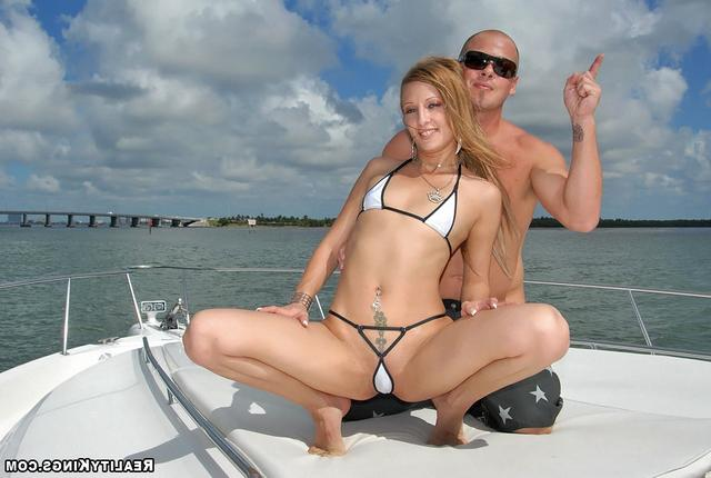 Bald guy fucked sporty girl on the high seas 10 photo